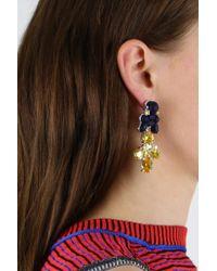 EK Thongprasert - Silicone Drop Earrings Dark Blue/citrine Crystals - Lyst