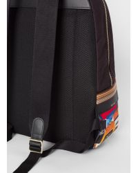 Paul Smith - Multicolor Sac À Dos Homme 'Cycling Jersey' En Toile for Men - Lyst
