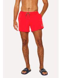 Paul Smith - Red Short De Bain Homme Rouge Logo Zèbre for Men - Lyst