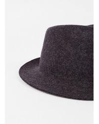 Paul Smith - Gray Men's Slate Grey Wool Hat for Men - Lyst