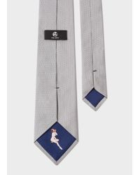 Paul Smith - Gray Men's Light Grey Pin Dot Silk Tie With 'naked Lady' Lining for Men - Lyst