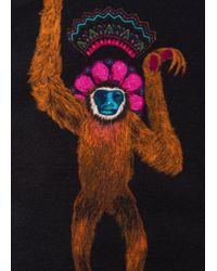 Paul Smith - Men's Black 'monkey' Print Silk Pocket Square for Men - Lyst