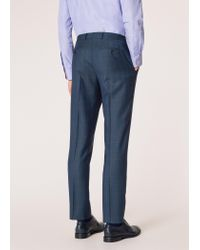 Paul Smith - Blue The Soho - Tailored-fit Dark Teal Windowpane Check Wool Suit for Men - Lyst