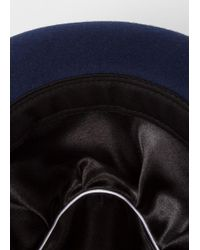 Paul Smith | Multicolor Men's Bi-colour Burgundy And Navy Wool Trilby Hat for Men | Lyst