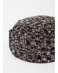 Paul Smith - Men's Black Twisted-yarn Wool Peak Hat for Men - Lyst