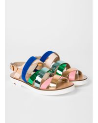 Paul Smith - Blue Women's Multi-colour Leather 'rio' Sandals - Lyst