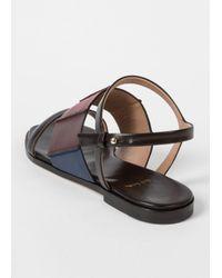 Paul Smith - Women's Black Colour-block Leather 'constance' Sandals - Lyst