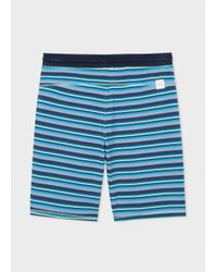 Paul Smith - Men's Blue Stripe Jersey Shorts for Men - Lyst