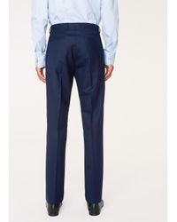 Paul Smith - Blue The Kensington - Men's Slim-fit Navy Puppytooth Wool 'suit To Travel In' for Men - Lyst