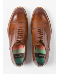 Paul Smith - Brown Women's Tan Leather 'bertie' Brogues - Lyst