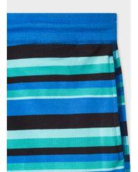 Paul Smith - Blue Short À Rayures Bleues Et Vertes En Jersey De Coton for Men - Lyst