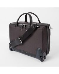 Paul Smith - Gray Men's Grey Chevron Stripe Briefcase for Men - Lyst