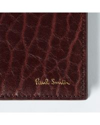Paul Smith - Multicolor Men's Damson Heavy Grained Leather Slim Billfold Wallet for Men - Lyst
