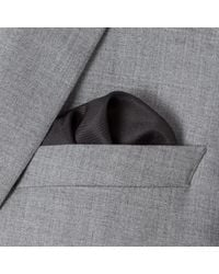 Paul Smith - Gray Men's Grey Concentric Square Pattern Silk Pocket Square for Men - Lyst