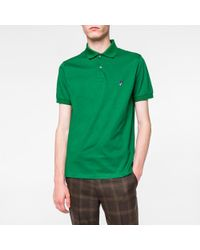 Paul Smith | Men's Green Embroidered 'mushroom' Motif Polo Shirt for Men | Lyst