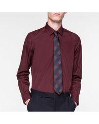 Paul Smith - Blue Men's Tailored-fit Damson Poplin Shirt for Men - Lyst