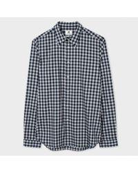 Paul Smith | Blue Slim Gingham Shirt for Men | Lyst