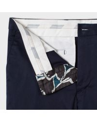 Paul Smith   Blue Houndstooth Trouser for Men   Lyst
