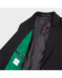 Paul Smith - A Suit To Travel In - Women's Black Two-button Wool Blazer - Lyst