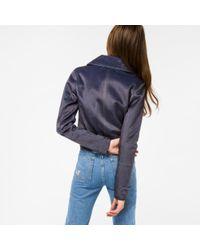Paul Smith - Gray Women's Mottled Grey Faux-fur Jacket - Lyst