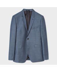 Paul Smith   Men's Slim-fit Slate Blue Wool Blazer for Men   Lyst