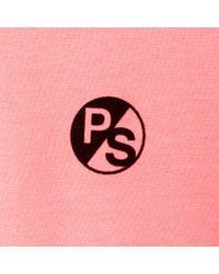 Paul Smith - Men's Pink Organic-cotton Flocked Ps Logo T-shirt for Men - Lyst