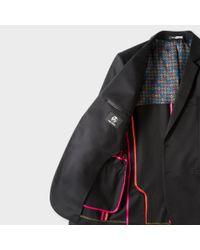 Paul Smith - Men's Slim-fit Black Stretch-cotton Buggy-lined Blazer for Men - Lyst