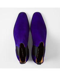Paul Smith - Blue Men's Indigo Suede 'gerald' Chelsea Boots - Lyst