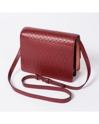 Paul Smith - Multicolor No.9 Women's Burgundy Leather Satchel - Lyst