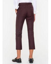 Paul Smith - Purple Women's Slim-fit Damson Wool Trousers - Lyst