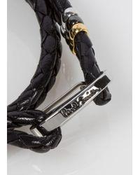 Paul Smith | Men's Black Leather Wrap Bracelet for Men | Lyst