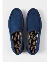 Paul Smith - Blue Navy Nubuck 'Danny' Loafers - Lyst
