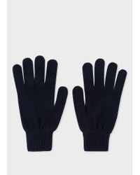 Paul Smith - Blue Gants Homme Bleu Marine En Cachemire Et Laine for Men - Lyst