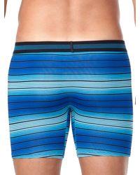 Perry Ellis - Blue Ombre Stripe Mesh Boxer Brief for Men - Lyst