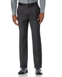 Perry Ellis | Gray Modern Fit Sharkskin Pleated Dress Pant for Men | Lyst