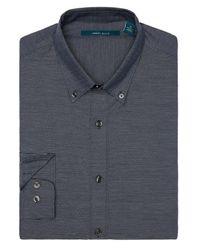 Perry Ellis - Blue Horizontal Stripe Shirt for Men - Lyst