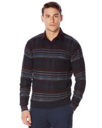 Perry Ellis | Multicolor Multi-color Plaid Crew Sweater for Men | Lyst