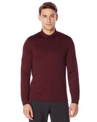 Perry Ellis | Red Travel Luxe Long Sleeve Oxford Polo for Men | Lyst