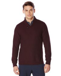 Perry Ellis | Red Shawl Collar Pullover Sweater for Men | Lyst