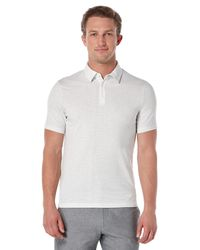 Perry Ellis | White Short Sleeve Diamond Pattern Polo for Men | Lyst