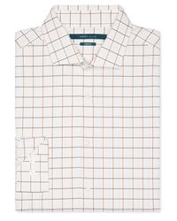 Perry Ellis | White Windowpane Stretch Shirt for Men | Lyst