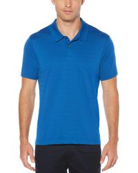 Perry Ellis - Blue Short Sleeve Micro Stripe Polo for Men - Lyst