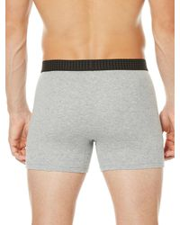 Perry Ellis - Gray 3 Pack Solid 1x1 Rib Boxer Brief for Men - Lyst