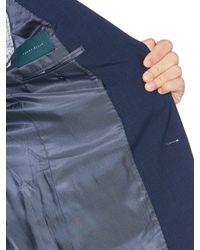 Perry Ellis - Blue Slim Stretch Textured Slub Suit Jacket for Men - Lyst