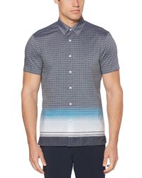 Perry Ellis - Blue Engineered Ombre Check Shirt for Men - Lyst