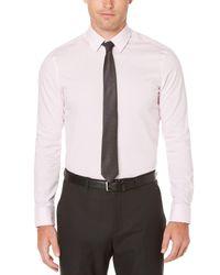 Perry Ellis - Pink Very Slim Dobby Dot Dress Shirt for Men - Lyst