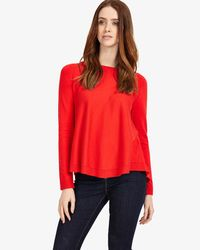 John Lewis - Red Phase Eight Terza Zip Back Swing Jumper - Lyst