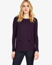 Phase Eight - Blue Dita Double Layer Top - Lyst