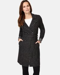 Phase Eight - Multicolor Trista Boiled Wool Trench - Lyst