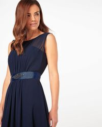 Phase Eight - Blue Rowena Belted Dress - Lyst